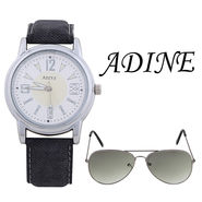 Combo of 1 Adine Wrist Watch For Women + 1 Sunglasses_AD50013