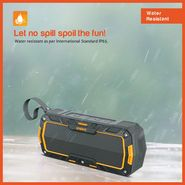 Envent Water & Impact Resistant Bluetooth Portable Speaker LiveFree 530 - Orange