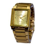 Branded Square Dial Analog Wrist Watch For Men_2305sm05 - Golden