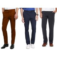 Pack of 3 Comfort Fit Stretchable Chino For Men_Kmec310