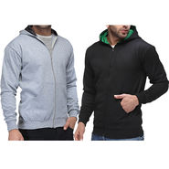 Pack of 2 Rico Sordi Cotton Sweatshirt_Rsms12 - Black & Grey