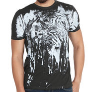 Buffalo Half Sleeves Printed Cotton Tshirt For Men_Bfwb - White-Black