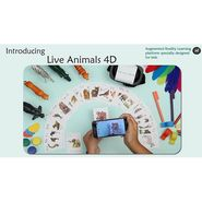 Interactive Live Animals 4D Augmented Reality Flash cards For Kids Learning