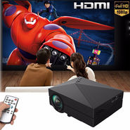ZINGALALAA GM60 Mini Portable Home Cinema Theater LED Projector HD 1080P HDMI AV USB VGA SD