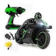 High Speed 2.4 GHz RC Bike with Built in Gyroscope & Bright LED Headlights Green