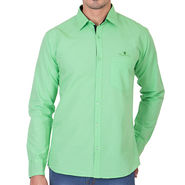 Branded Full Sleeves Cotton Shirt_R12kgrn - Green