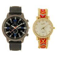 Fidato Combo of 1 Watch For Men + 1 Wrist Watch For Women_Fdwc41