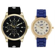 Fidato Combo of 1 Watch For Men + 1 Wrist Watch For Women_Fdwc48