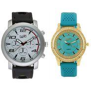 Fidato Combo of 1 Watch For Men + 1 Wrist Watch For Women_Fdwc50