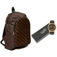 Fidato Combo of 1 Watch For Men + 1 Backpack_Fdwc107