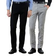 Pack of 2 American Elm Formal Trousers For Men_Tr42
