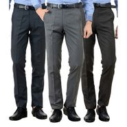 Pack of 3 American Elm Formal Trousers For Men_Tr45