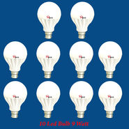 Home Pro Combo Of 10 Led Bulb 9 Watt