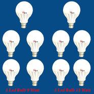 Home Pro Combo Of 10 Led Bulb 9 Watt & 12 Watt