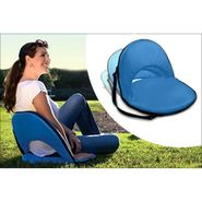 Kawachi Portable Reclining Yoga Chair With 6 Adjustable Positions And Shoulder Strap - Sky Blue