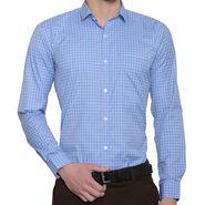 Being Fab Checks Shirt For Men_Bfpld114 - White & Blue
