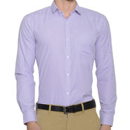 Being Fab Stripes Shirt For Men_Bfstrp103 - White & Purple
