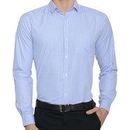 Being Fab Checks Shirt For Men_Bfwdc105 - White & Blue