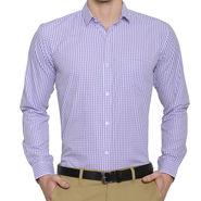 Being Fab Checks Shirt For Men_Bfwdc106 - White & Purple