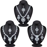 Combo of 3 Sukkhi Austrian Diamond Necklace Sets_261CB1910