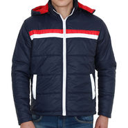 Crocodile Quilted Jacket For Men_Crocodilen - Navy