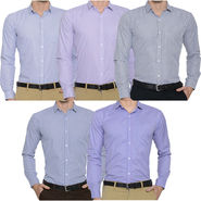 Combo of 5 Slim Fit Shirts For Men_Bfpld11313712