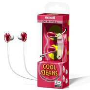 Maxell Cool Beans Earbud (Red)