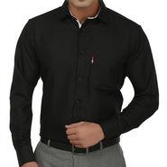 Fizzaro Regular Fit Cotton Shirt For Men_Fzs104 - Black