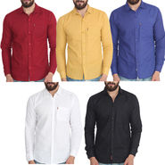 Pack of 5 Pelican Slim Fit Cotton Shirts For Men_Cs0102030405