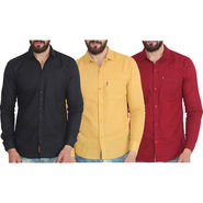 Pack of 3 Pelican Slim Fit Cotton Shirts For Men_Cs010203