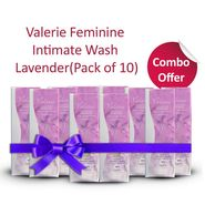 Valerie Pack of 10 Feminine Intimate Wash Lavender