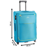 Pronto Polyester Blue 65 cm Trolley Bag -pps05
