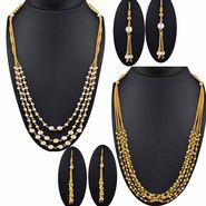 Set of 2 Spargz Beads Multi-Strand Mala Necklace Set Jewellery Set _Cm567