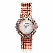 Oleva Analog Round Dial Women Wrist Watch_Olw54 - White