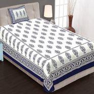 Priya Fashions Cotton King Size Jaipuri Printed 1 Single Bedsheets With 1 Pillow Covers-70X100B23