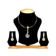 Oleva Ladies Austrian Diamond Pendant Set_OAJ4 - Gold & Silver