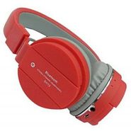 Being Trendy Foldable SH12 With MIC, FM and SD Card Slot Wireless Bluetooth Headset With Mic (Red,Black)