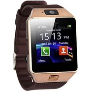 Being Trendy With Sim, 32 Gb Memory Card Slot, Bluetooth And Fitness Tracker Smartwatch (Brown Strap)