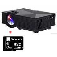 Combo of  UNIC UC46 1200 Lumens Projector + 8GB Memory Card