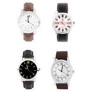 Combo of 4 Analog Round Dial Wrist Watches_Wco5 - White & Black