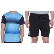 Combo of 1 Adidas Casual Short & 1 Plain Full Sleeves Tshirt_Os010