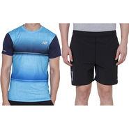 Combo of 1 Adidas Casual Short & 1 Plain Full Sleeves Tshirt_Os011