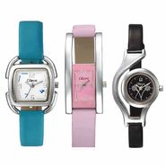 Set of 3 Oleva Women Leather Watches_Osc202