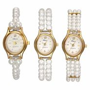 Set of 3 Oleva Women Pearl Watches_Osc214