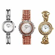 Set of 3 Oleva Women Metal Watches_Osc215