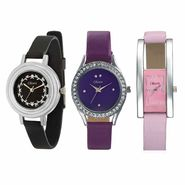 Set of 3 Oleva Women Leather Watches_Osc216
