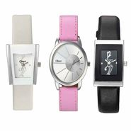 Set of 3 Oleva Women Leather Watches_Osc220