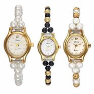 Set of 3 Oleva Women Pearl Watches_Osc224