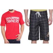 Combo of 1 Short & 1 Slim Fit Tshirt_Os104