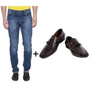 Combo of Stylish Slim Fit Jeans + Formal Shoes_Os191